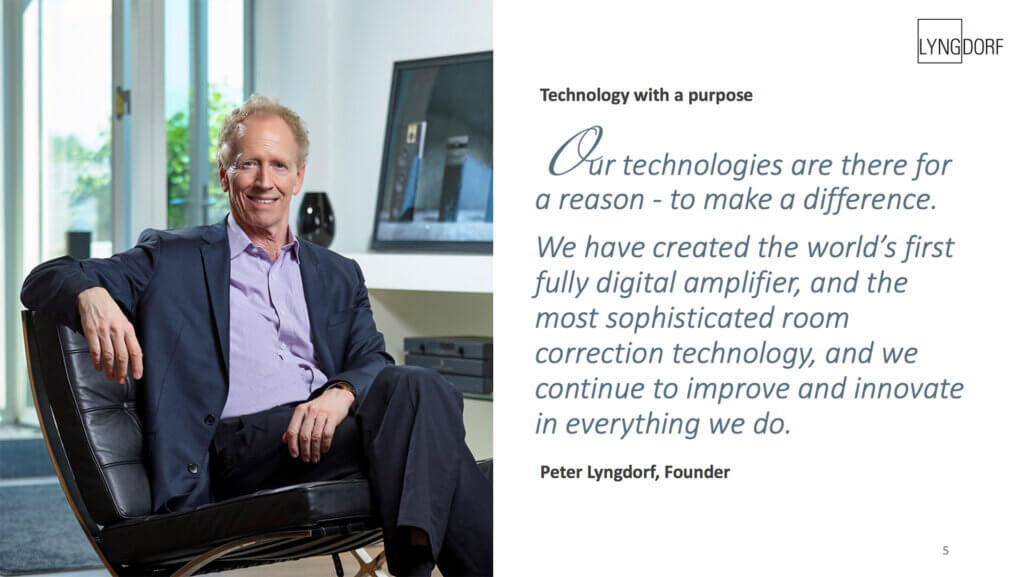 Technology with a purpose - Peter Lyngdorf